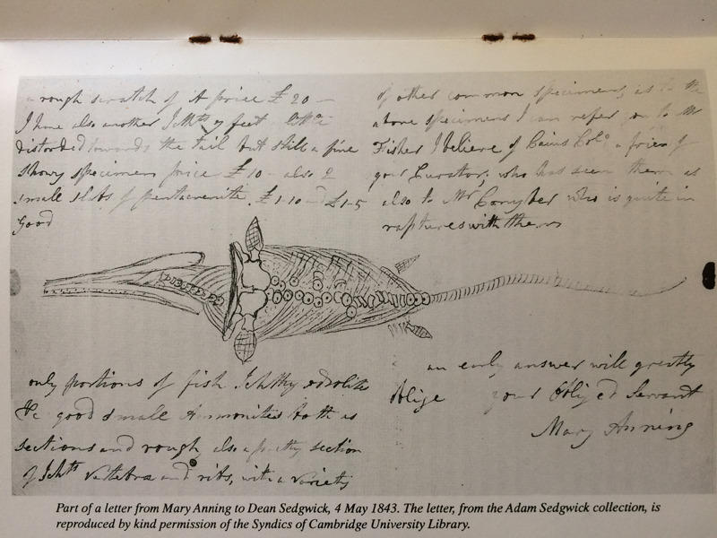 Fig14 Letter by Mary Anning to Dean Sedgwick
